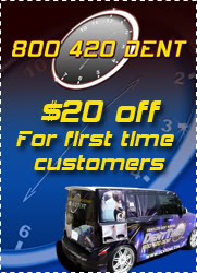 paintless dent repair / bumper repair special discounts